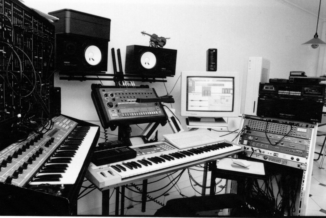 My studio in 1993